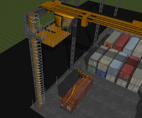 cinema4d container crane shipping