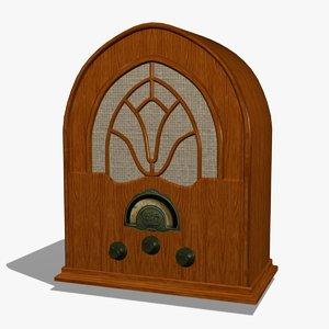 3d model radio antique