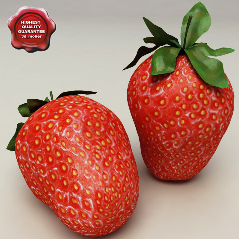maya strawberry modelled