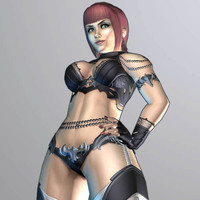 female fantasy character 3d model