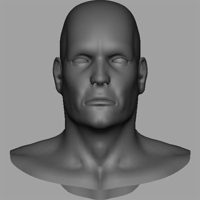 male head x