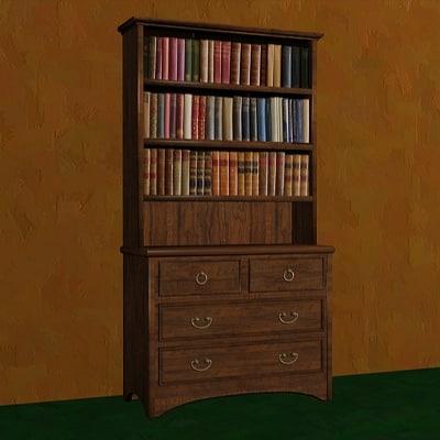 bookcase book 3ds
