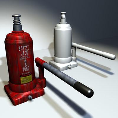 bottle jack 01 3d max