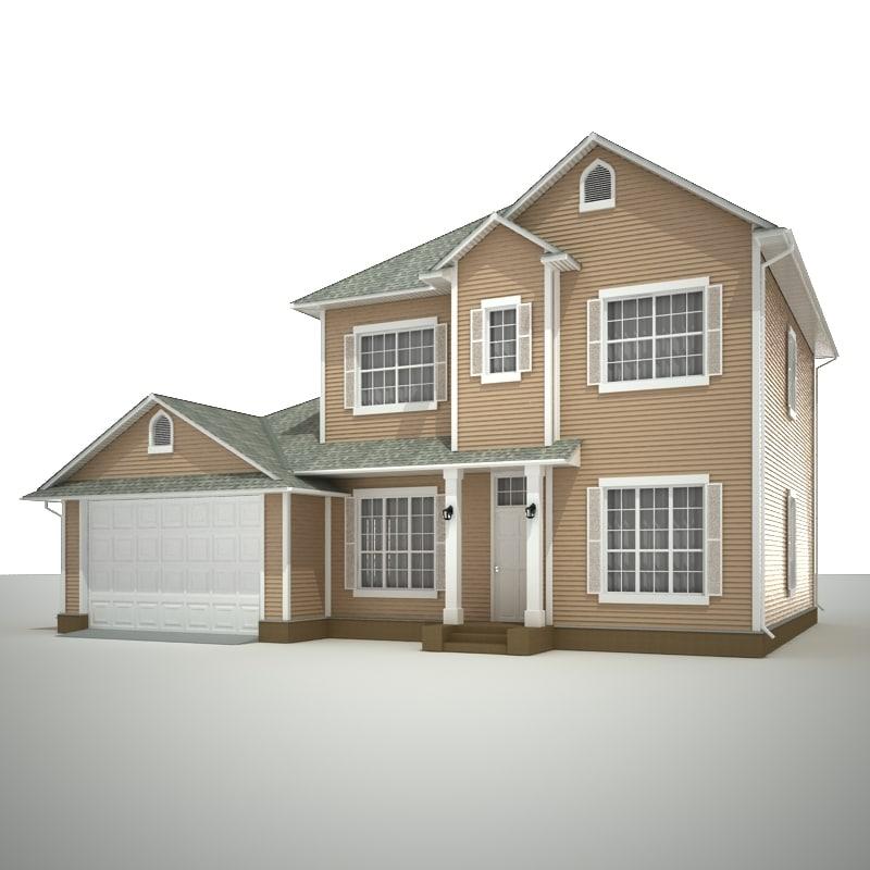 3d story cottage model