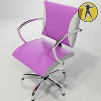 3d chair hair model