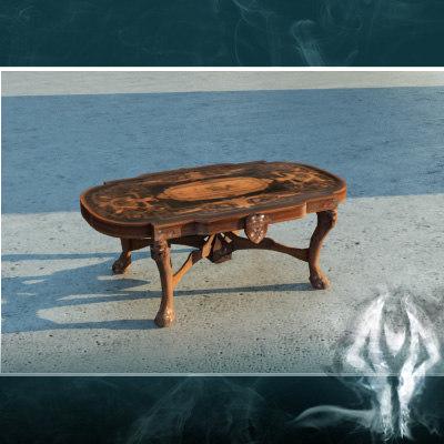 antique table 3d model