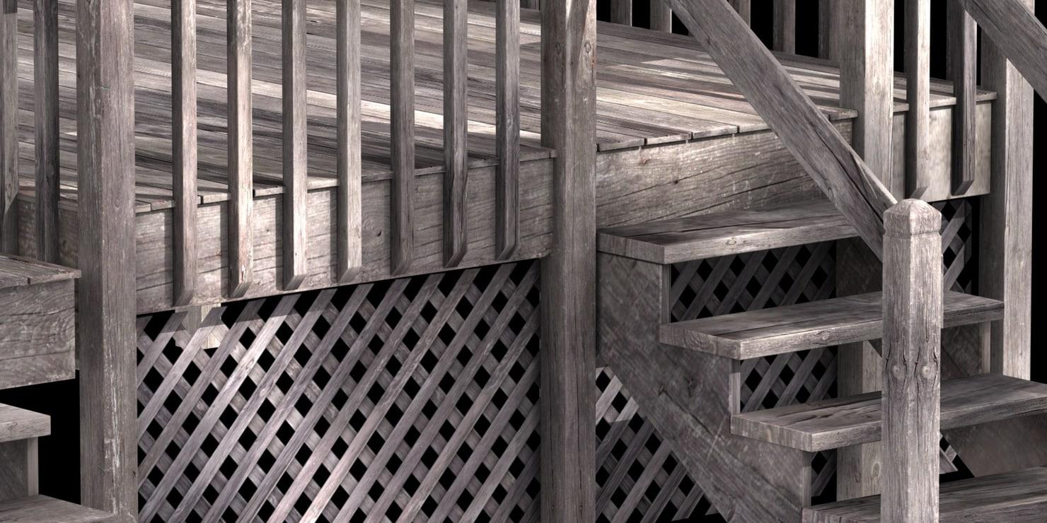 maya weathered deck home