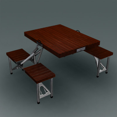 modern folding desk 3d max