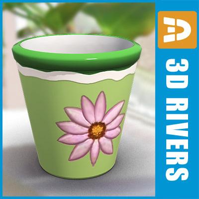 3d model planter flowerpot