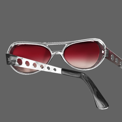 retro sun glasses 3d ma