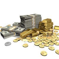 money gold 3d model