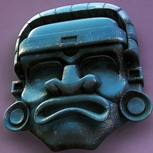 aztec medicine mask 3d max