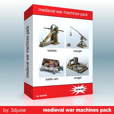 siege weapons 3d model