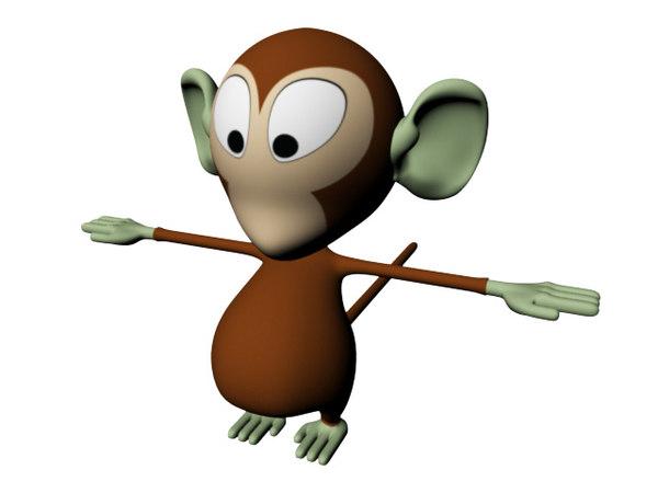 cartoon monkey 3d ma