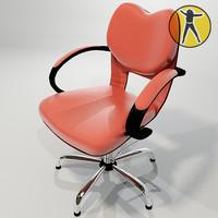3d chair hair offices