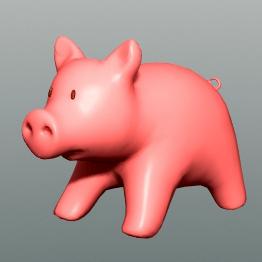 happy piggy :d 3d model