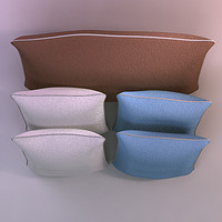 pillows realistic base 3d model
