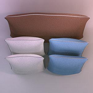 pillows realistic base 3d model