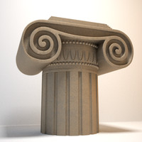 decorative ionic capital 3d max
