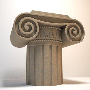 decorative ionic capital 3d max