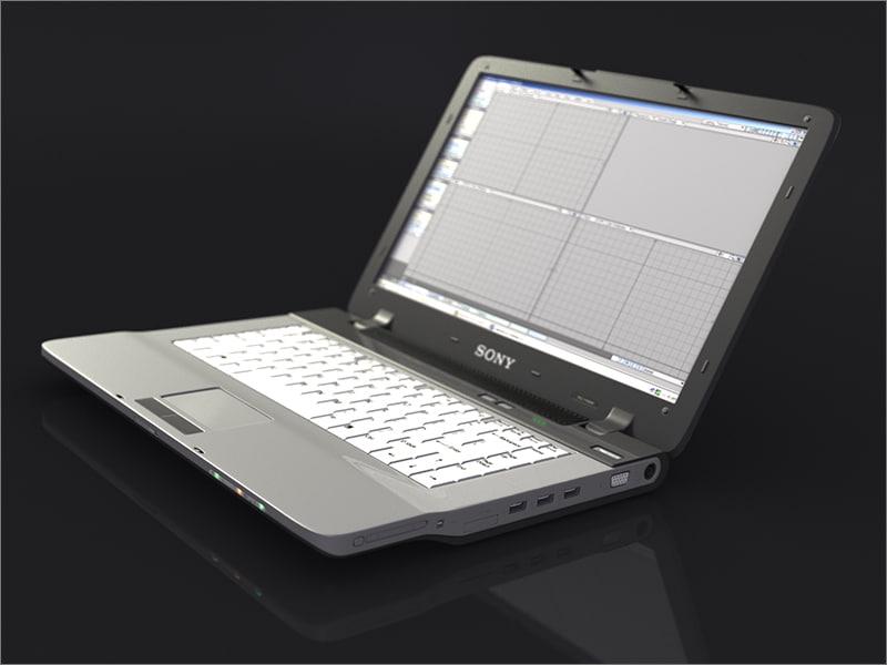3ds max sony vaio laptop
