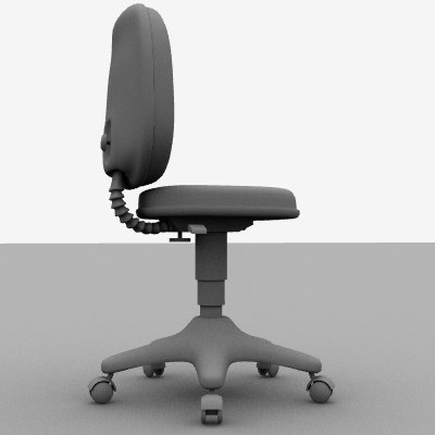 rolling spinning office chair 3d model