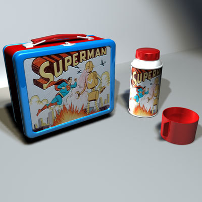 3ds max superman lunchbox 01 lunch