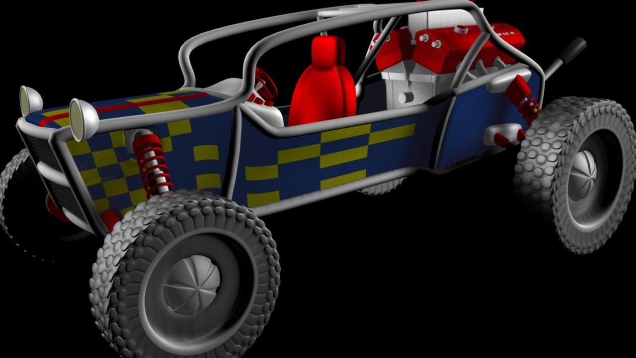buggy engine c4d