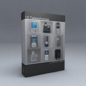 3d 10 telephones