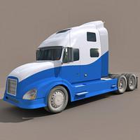 semi truck 3ds