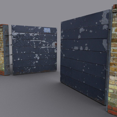 3ds max metal panel
