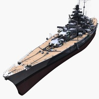 3d model tirpitz ship