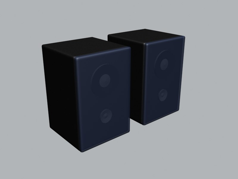 small speakers 3d max