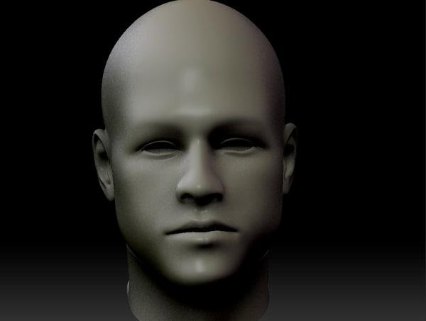 head brad pit 3d model
