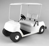Low Polygon Golf Cart