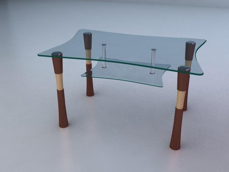 3d model table center