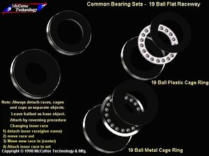 3d model machine ball bearing