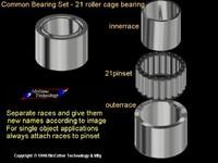 21 Pin Caged Bearing