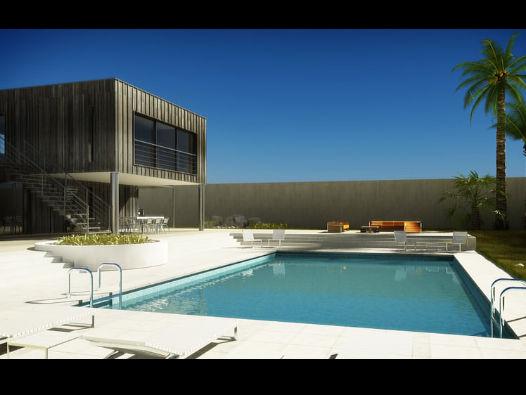 3d house luxury garden
