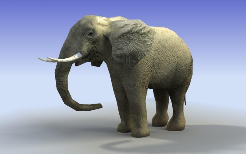 3dsmax african elephant