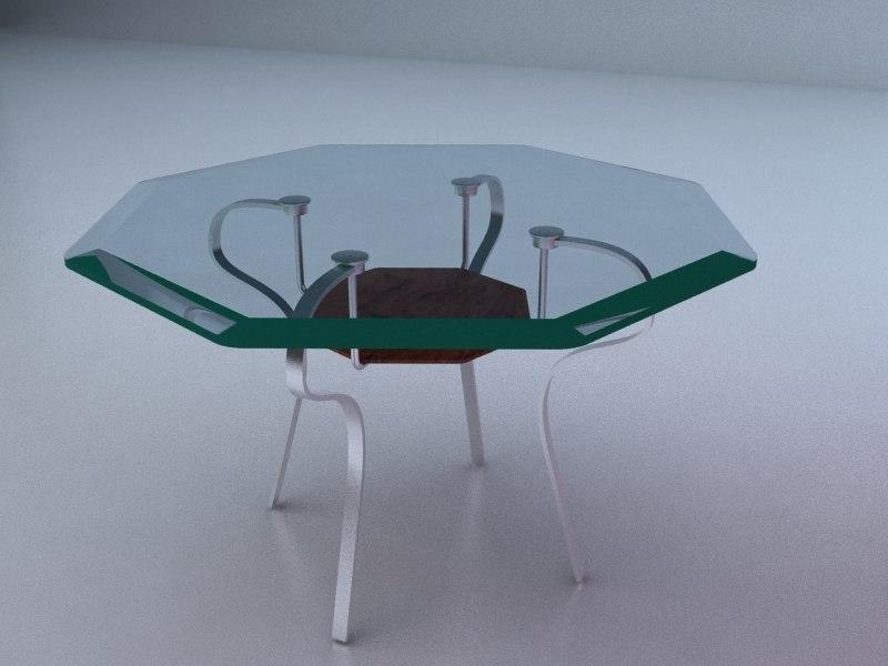 3d table center model