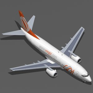 b 737-300 gol 3d model