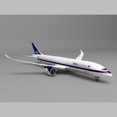 787 delta 3d model