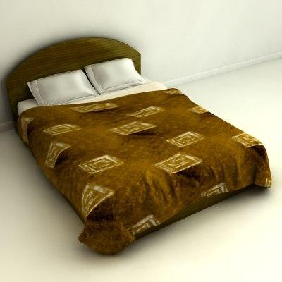 3d 3ds bed blanket mattress