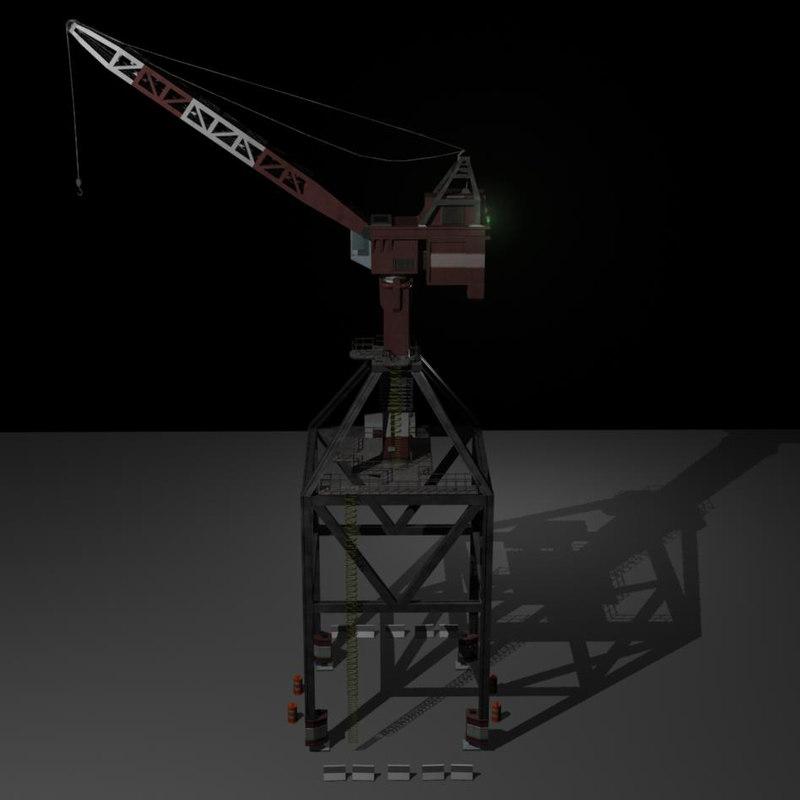 3d model crane
