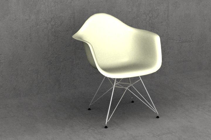 eames plastic chair 4 3d 3ds