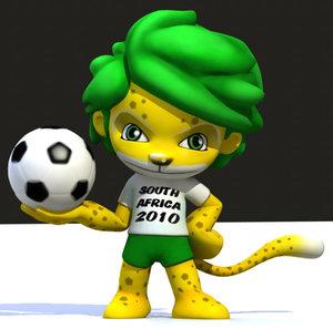 3d soccer character scn