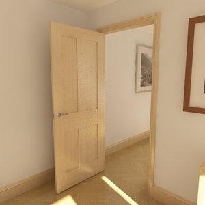 modern panel door solid 3d max