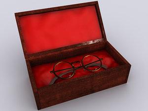 old glasses 3d model
