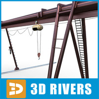3ds overhead crane